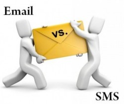 sms email